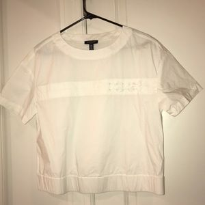 Kenneth Cole poplin tee w/lace up and elastic